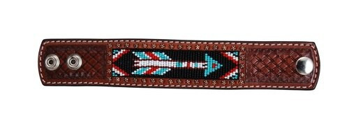 Beaded Arrow Leather Cuff