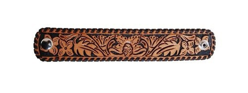 Floral Tooled Leather Cuff