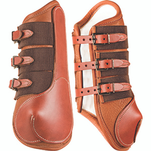 Wrap-Around Leather Splint Boots