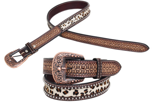 leopard Hide Inlay Belt