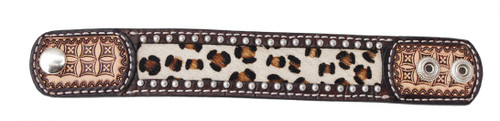 Leopard Hide Inlay Cuff