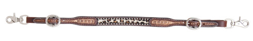 Leopard Hide Inlay Wither Strap