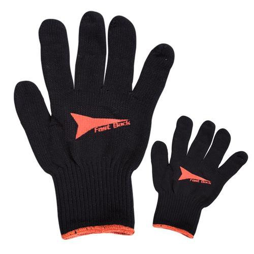 Black Cotton Rope Gloves