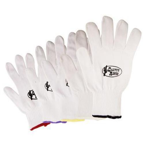 Cactus White Cotton Roping Gloves