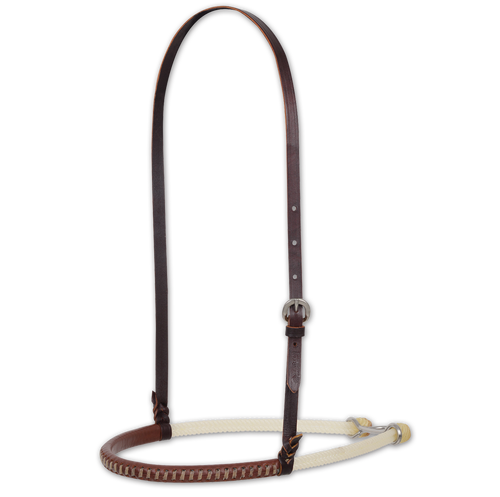 Double Rope Noseband w/Leather Cover