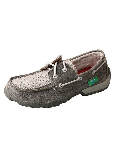 Twisted X Kid's Boat Shoe Driving Moc Grey/Light Grey - Style #YDM0044