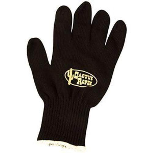 Cactus Black Cotton Roping  Gloves