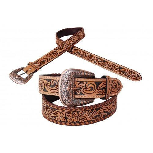 Flower Tooled Belt