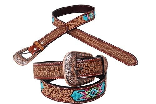 Beaded Inlay Belt