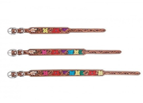 Painted floral Dog Collars