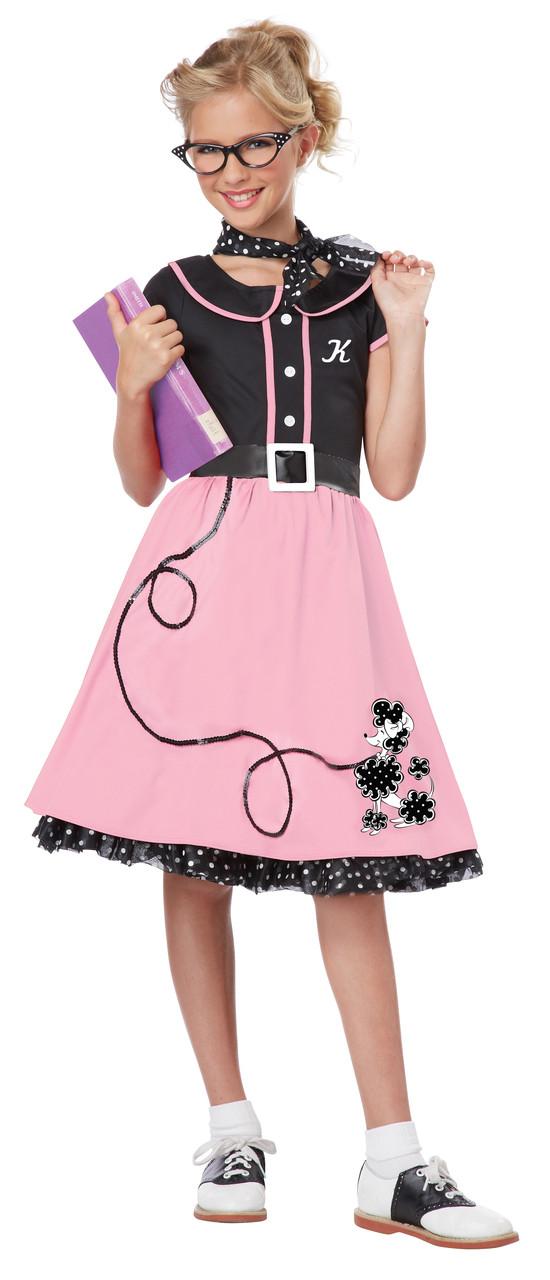50s Children's Sweetheart Poodle Skirt Costume