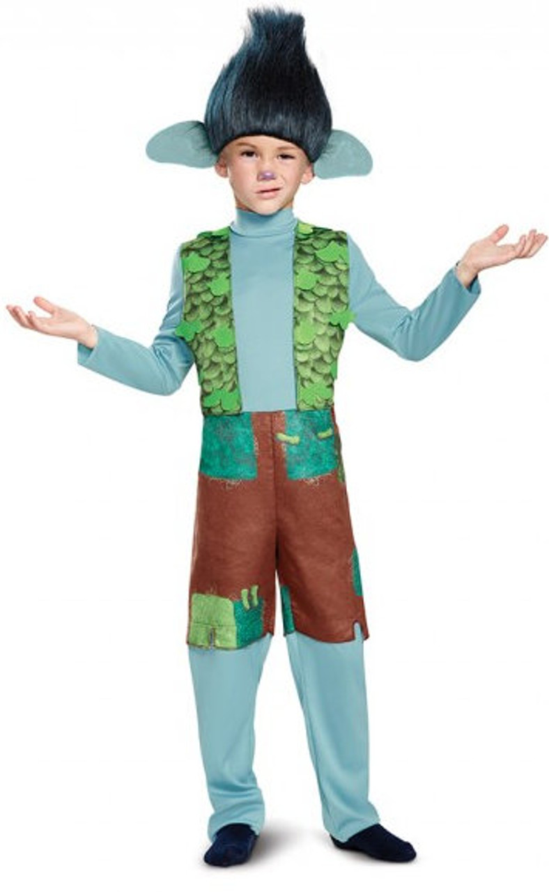 Branch Wig Headpiece Trolls Movie Fancy Dress Halloween Child Costume Accessory
