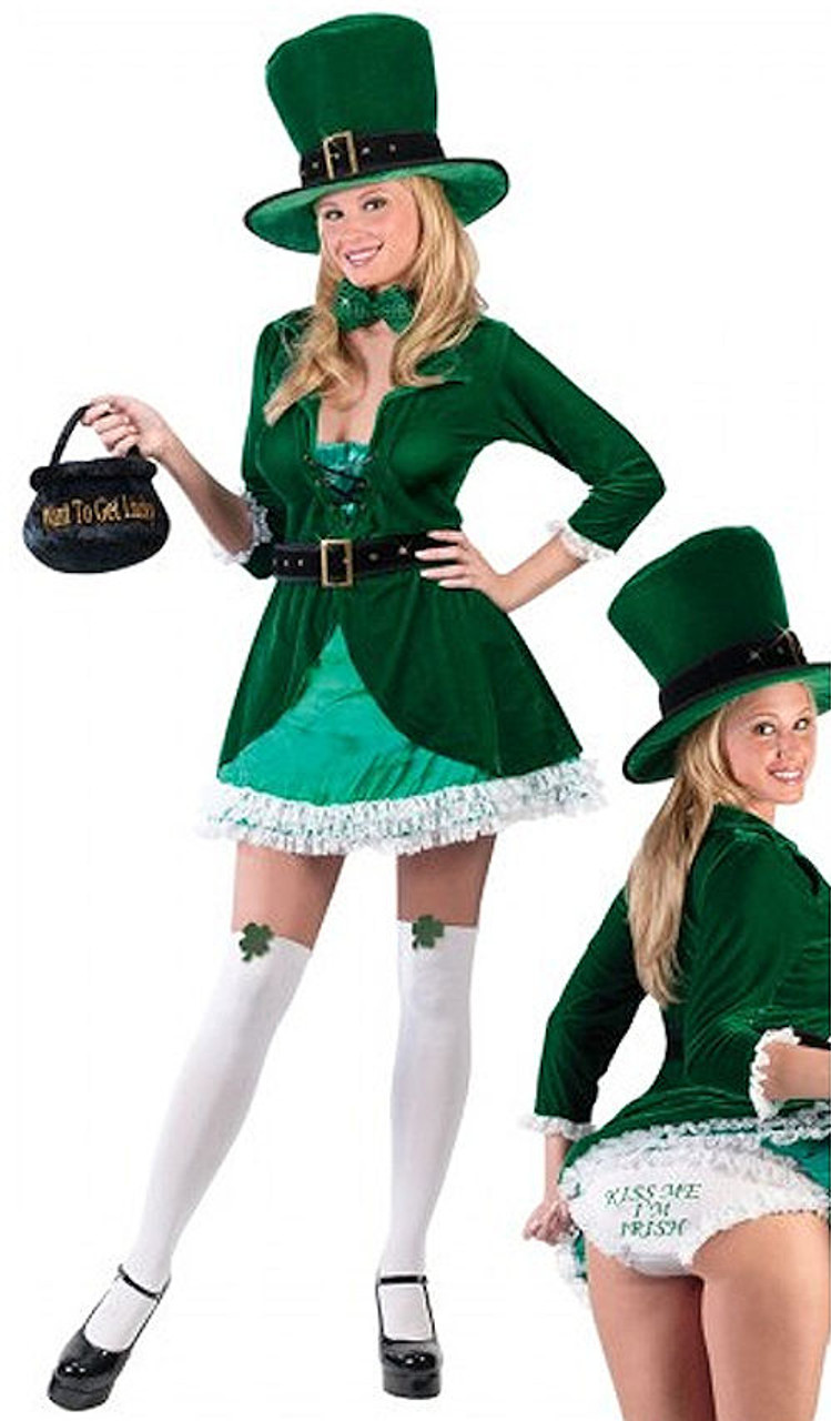 CLEARANCE - Sexy Luscious Lucky Leprechaun Dress Costume