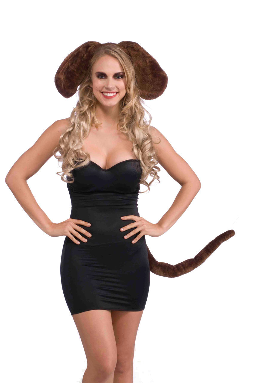 Brown Dog Ears And Tail Costume Kit