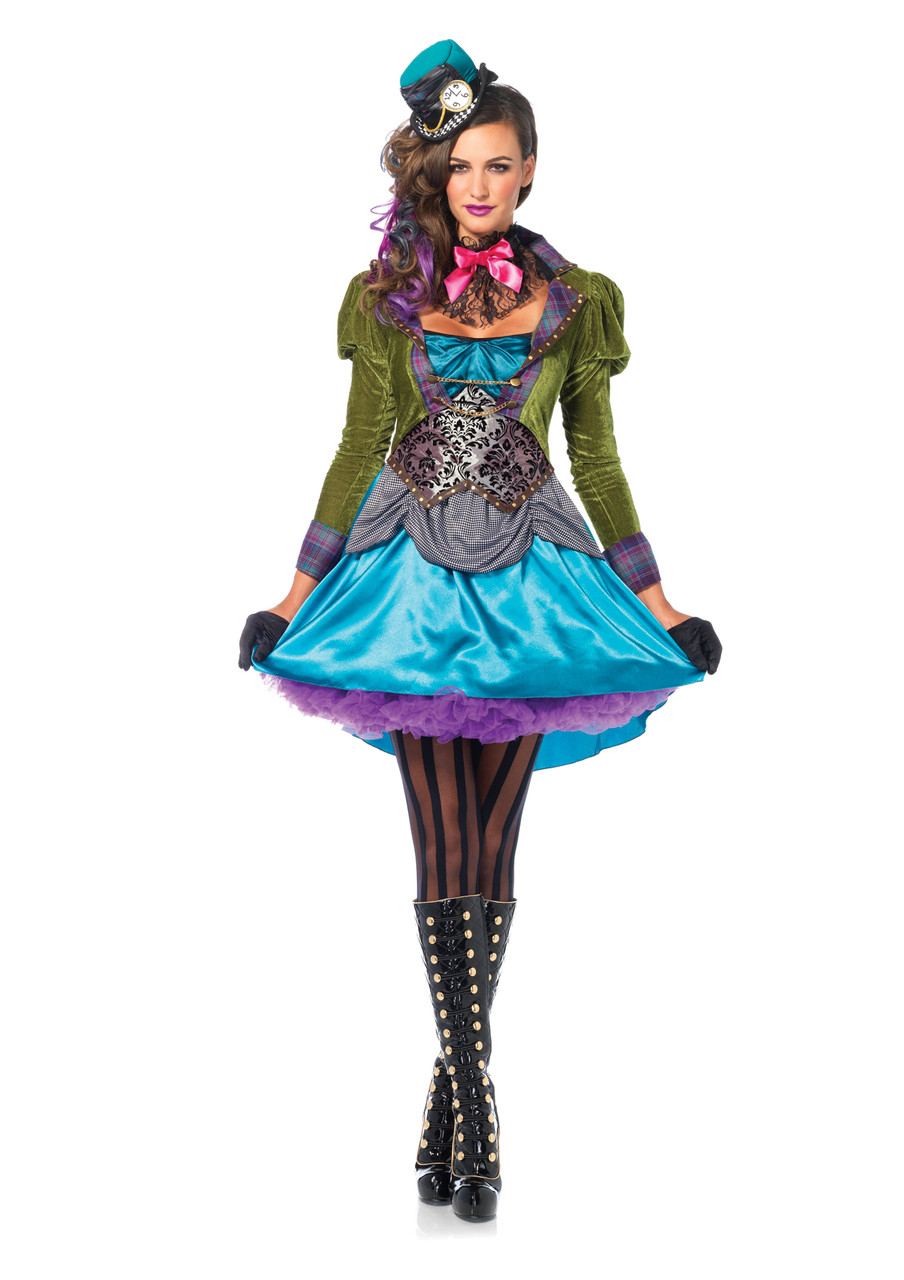 Girls Deluxe Mad Hatter-ess Halloween Costume