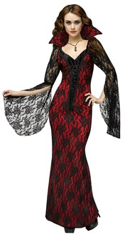 Dark Lace Vampiress Vampire Costume