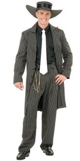 Mens 20s Black Gangster Zoot Suit Costume
