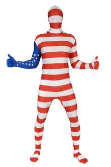 USA Flag Adult Morphsuit