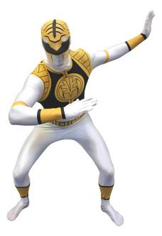 White Power Ranger Adult Morphsuit