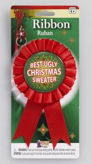 Ugly Christmas Sweater Award Ribbon
