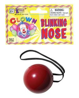 Flashing Nose, Clown or Rudolph Nose