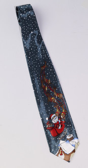 Santa's Sled Christmas Tie
