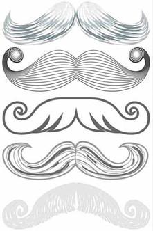 Santa Moustache Stachetats Tattoos