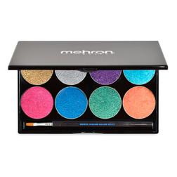 Mehron Paradise Makeup AQ™ - 8 Color Palette - Brilliant Metallic