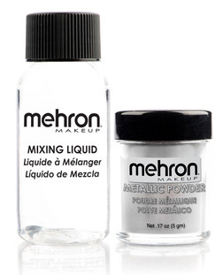 Mehron Silver Metallic Powder Kit