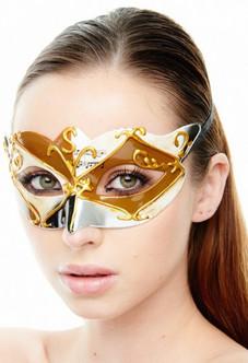 Diamond Music Masquerade Mask - Gold