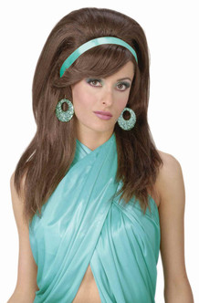 Brown Mod Bouffant Wig 60s