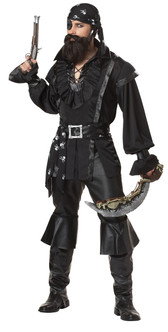 Dark Plundering Pirate Mens Costume