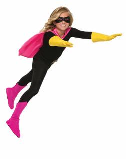 Kids Pink Super Hero Boot Tops