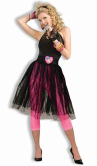 80s Pop Star Black Skirt