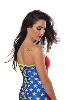 Wonder Woman Glitter Temporary Tattoo