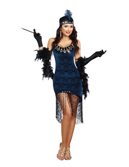 20s Downtown Doll Flapper Costume