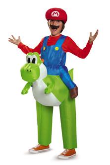 Mario Riding Yoshi Inflatable Children's Costume