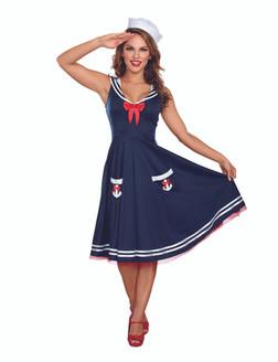 All Aboard Sailor-Lady Costume - Plus Size