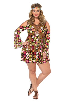 Starflower Hippie Costume - Plus Size