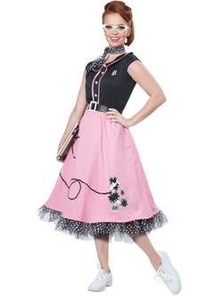 1950s Poodle Skirt Sweetheart Women's Costume