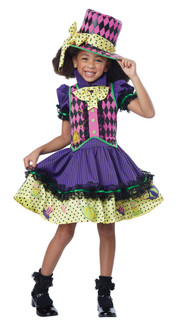 Deluxe Mad Hatter-Ess Girl's Costume