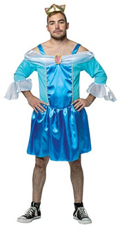 Cinderfella Cinderella My Hairy Princess Funny Men's Costume