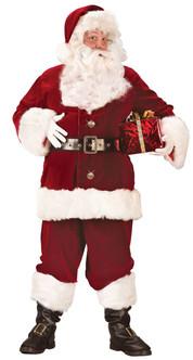 XX-Large Super Deluxe Crimson Velvet Santa Suit Costume