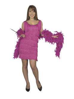 Fuchsia Fashion Flapper Dress Ladies Plus