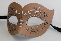 Natural Faux Leather Maskquerade Mask