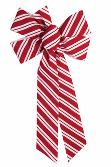 Simple Candy Cane Bow