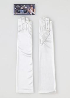 Roaring 20s Long Ivory Gloves