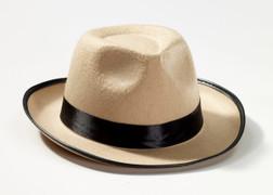Roaring 20s Beige Fedora Hat