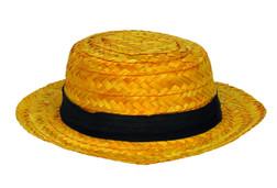 Straw Boater Skimmer Hat