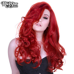 Lace Front Peek-A-Boo Henna Red Wig